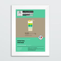 Etui 12 cartes postales - Cocktails vintage