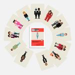 Etui 12 cartes postales - Vestiaire musical de la variété française